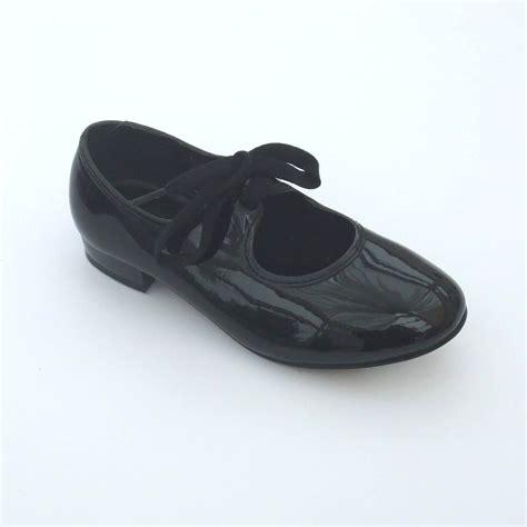 black tap shoes black patent pu low heel tap shoes dancewear universe