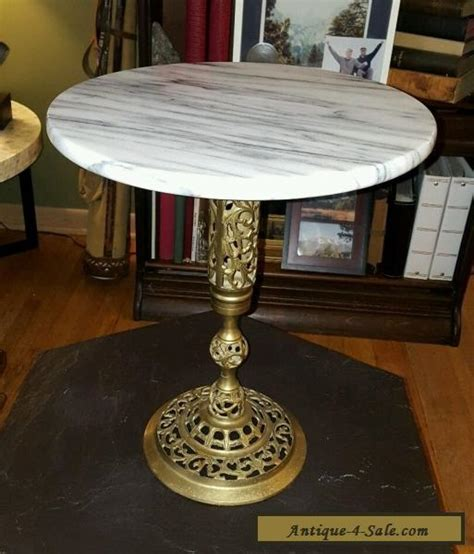 brass tables for sale vintage marble and brass end table l table plant