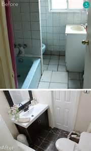 Makeover Bathrooms - eye candy 10 big impact small bath makeovers 187 curbly diy design community