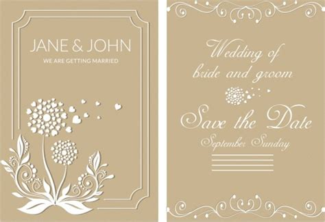 wedding card template free vector for free about 214 648 free vector
