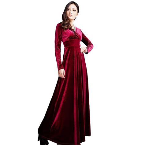 design night dress brand designer women dresses long sleeve v neck gold