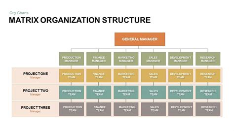 matrix organization structure powerpoint and keynote