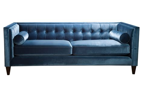 couch p jodi 84 quot tufted velvet sofa teal sofas from one kings lane