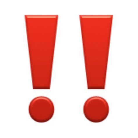 emoji explanations double exclamation mark emoji u 203c u 203c u fe0f