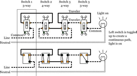 4 way switch wiring a light wiring diagrams wiring