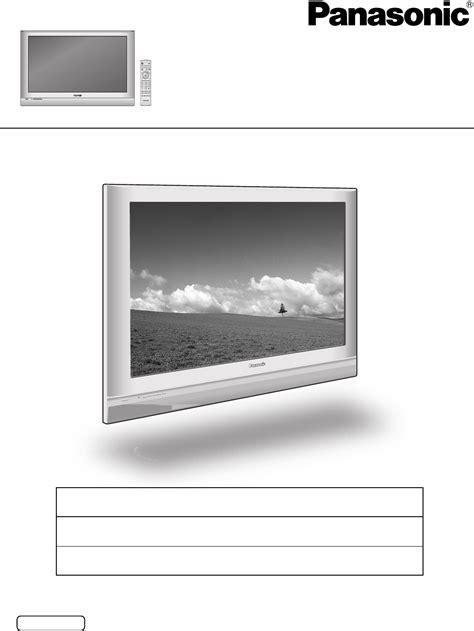 Panel Tv Panasonic panasonic flat panel television th 42pd50u user guide