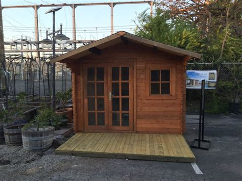 pre fabricated natural wood storage shed kits
