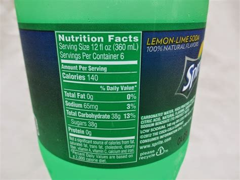 carbohydrates in 7up sprite nutrition facts 12 oz www pixshark images