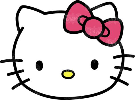8 best images of free printable hello kitty face hello