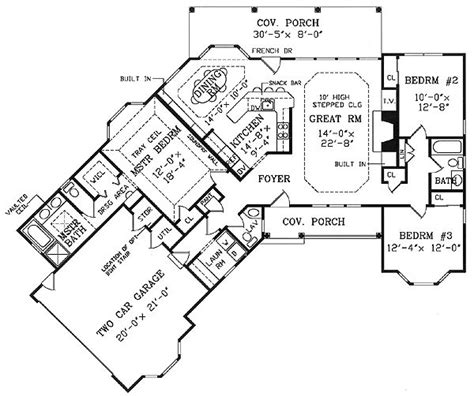 Parade Of Homes Floor Plans by Angled Country Ranch