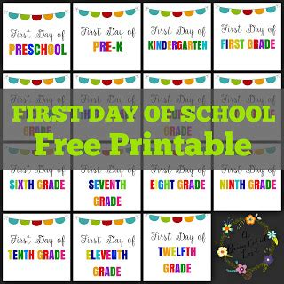 Day Of Nursery School Sign Printable