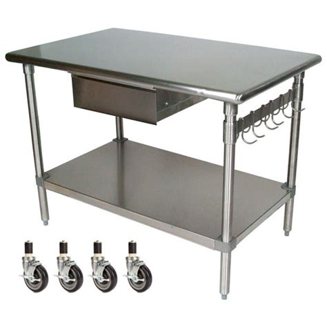 Kitchen Work Table On Wheels Boos Stainless Steel Work Tables Work Tables Kitchensource