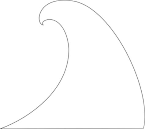 wave line drawing clipart best line drawing of a wave clipart best