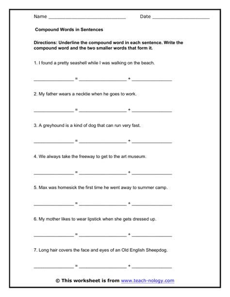 compound sentences worksheet www imgkid the image