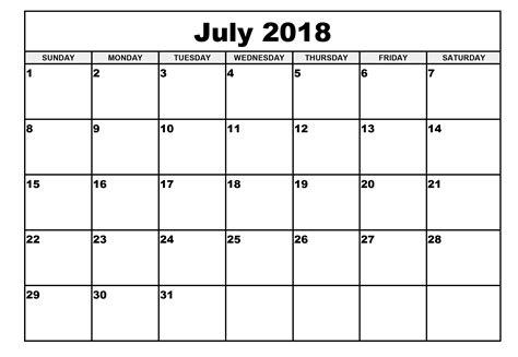 Calendar July 2018 July 2018 Calendar July 2018 Printable Calendar Pata Sauti