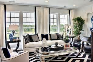 Black And White Chairs Living Room Design Ideas Black And White Living Room Decoration