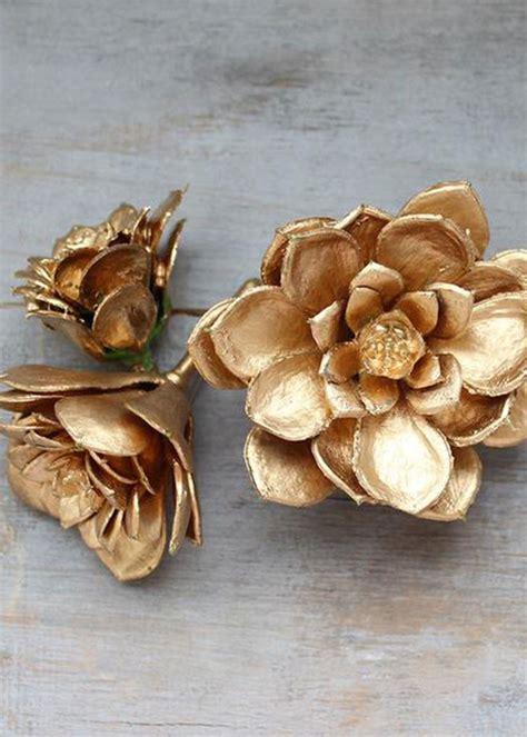 Per Unas Silk Floral Handbag by Mini Gold Echeveria Picks Artificial Succulents