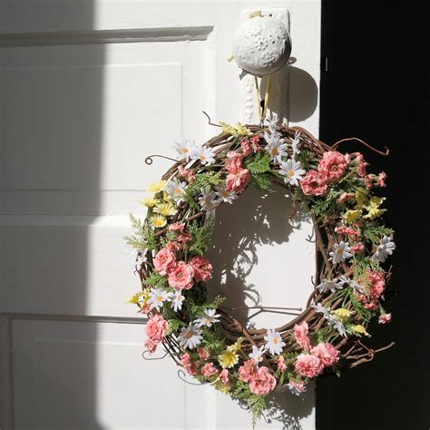 diy spring wreath simple diy spring wreath