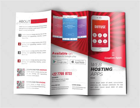 Brochure With Application by Mobile Apps Trifold Brochure By Arts Graphicriver