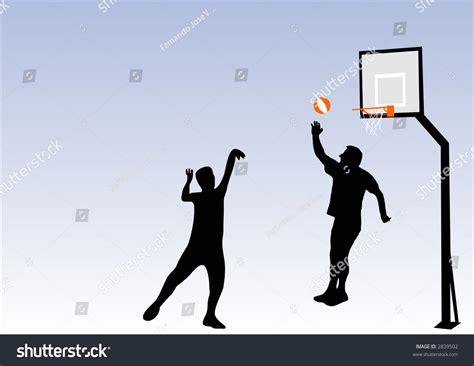 basketball spielen illustration basketball stock vector