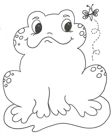 imagenes de sapos faciles para dibujar dibujos de sapos para colorear y pintar