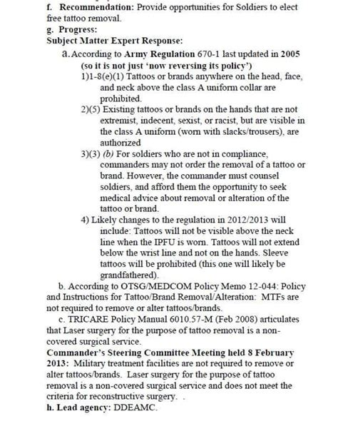 tattoo removal arkansas tricare or mtf will the army pay for removal