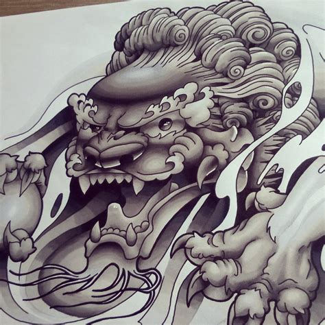 chinese foo dog tattoo designs foo b g design by funkt green on deviantart