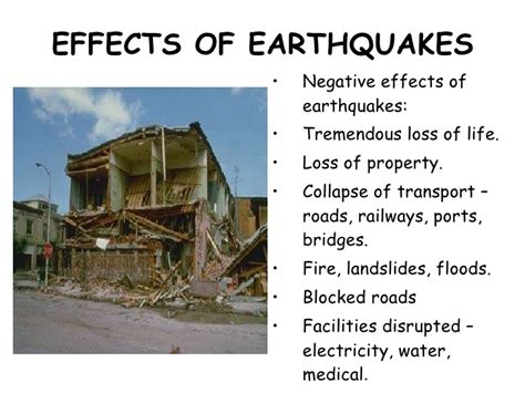 earthquake effects plate movements ppt