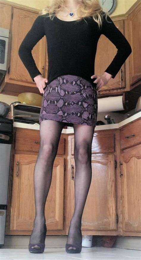 two bodycon mini skirts for a crossdresser clothing