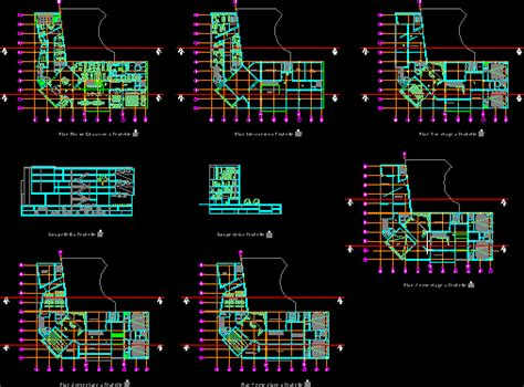 contemporary art center dwg full project  autocad