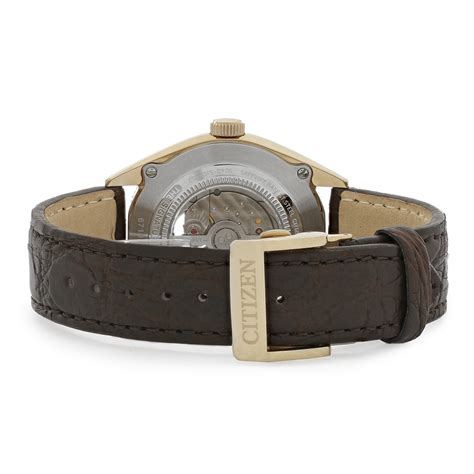 Swiss Army 2265 Rosegold Brown Leather Original Citizen Automatic Mens Grand Classic Brown Leather