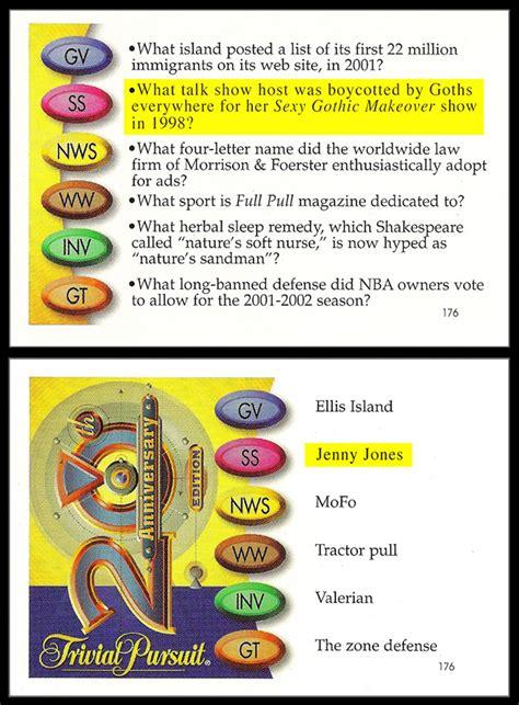 trivial pursuit card template trivial pursuit question cards uk images