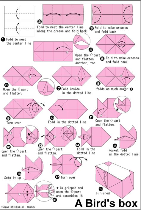 origami club box origami club box origami birds box ideas found here info