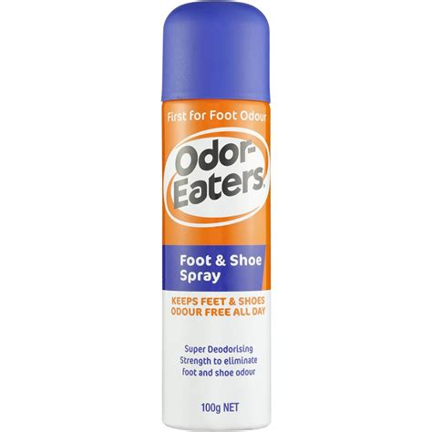 athletes foot shoe spray odor eaters shoe care foot shoe spray 100g woolworths