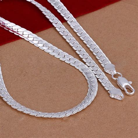 5mm 925 solid sterling silver necklace chain 20 quot inch