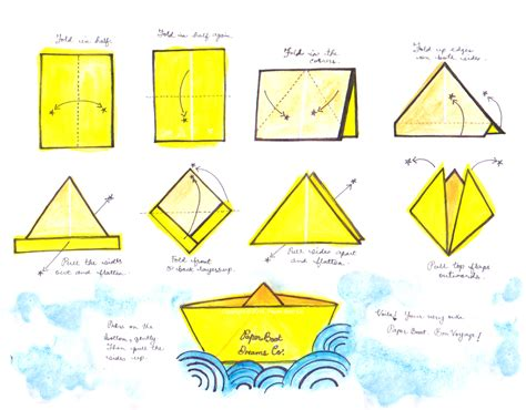 folding paper to make boat how to make paper boat origami boat instruction