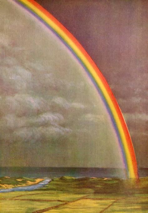 rainbow nature  stock photo illustration   rainbow  coastal fields