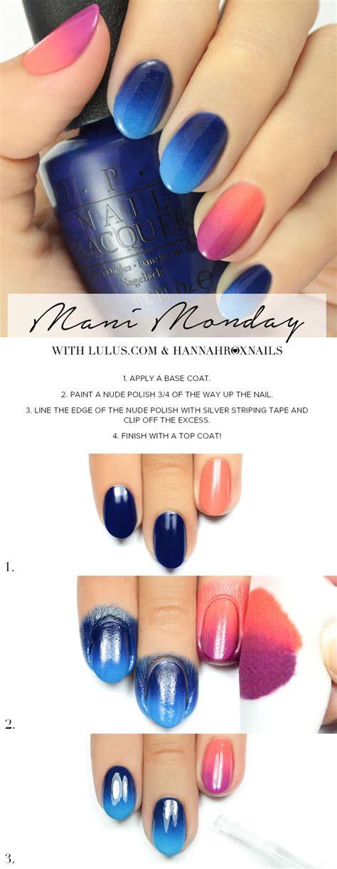 video tutorial 95 nail art ombr verde smeraldo e bianca con effetto mani monday pink and blue ombre nail tutorial i love
