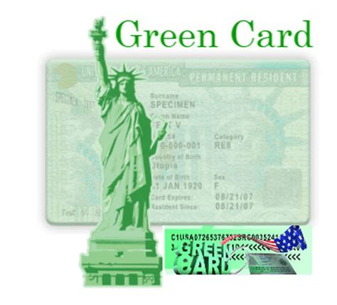 green card details number visa holder status