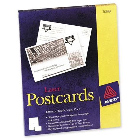 avery 5389 template avery post cards 100 box 4 quot x 6 quot quickship