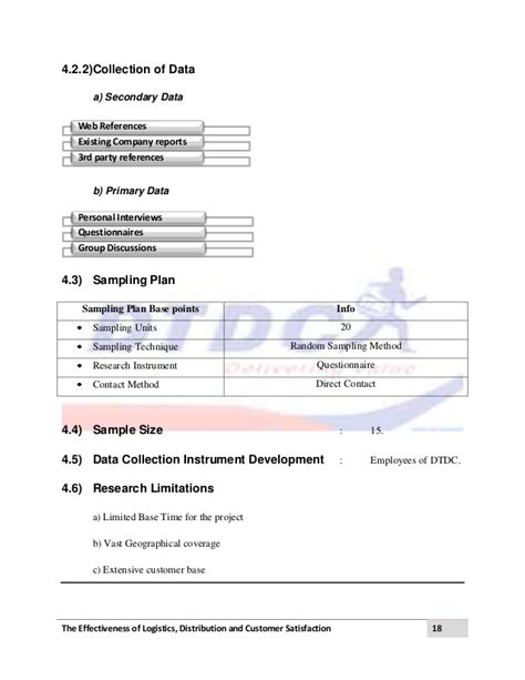 distributor profile template logistics and distribution project dtdc