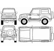 CAR Blueprints  Suzuki SJ410 Samurai Hardtop