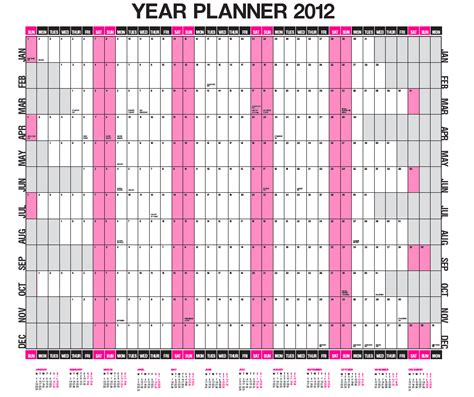 wall planner template wall planner printing any size a0 a1 a2 or a3