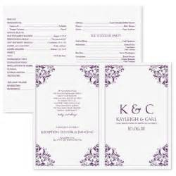 Program Templates Free by Wedding Program Template Instantly By Karmakweddings