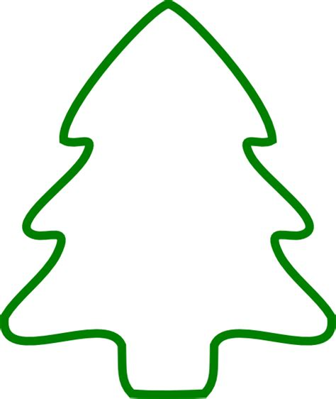 green christmas tree outline clip art at clker com