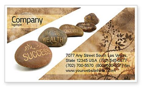 business card feng shui template feng shui stones business card template layout