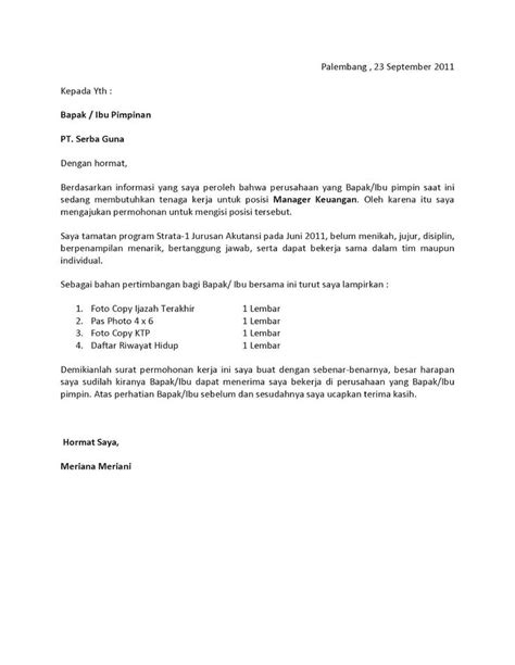 Contoh Motivation Letter Jerman Surat Lamaran Kerja Fresh Graduate Bahasa Indonesia