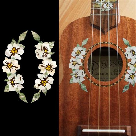 flower design ukulele for ukulele inlay stickers jockomo