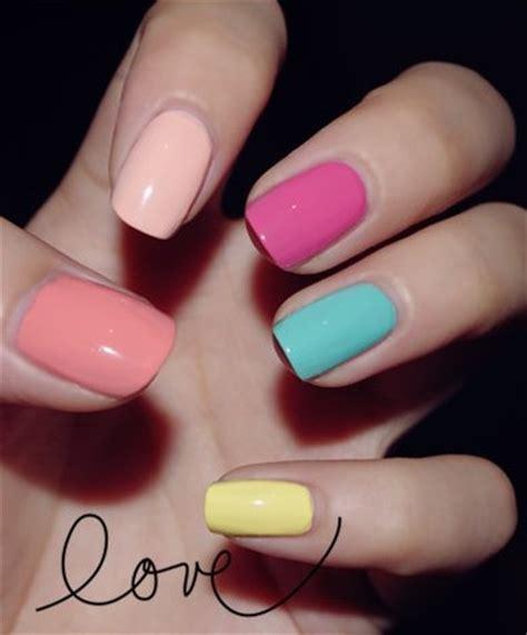 imagenes de uñas pintadas con colores pasteles colores pastel dise 241 o de u 241 as