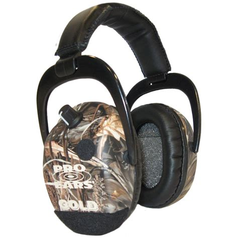 ear muffs pro ears 174 camo stalker gold hearing protection and lification ear muffs 175896